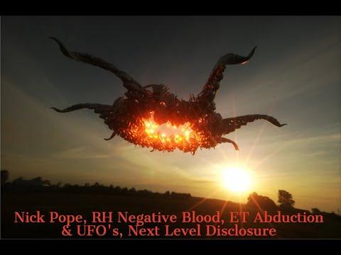Nick Pope, RH Negative Blood, ET Abduction & UFO's, Next Level Disclosure