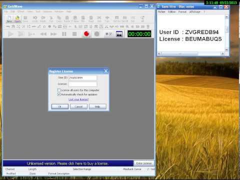 Activer Goldwave 5.68