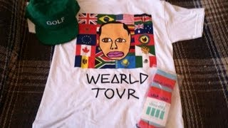 Wolf Tour Show Merchandise Pickups - GOLF Snapback, WEARLD TOUR T-Shirt, & Wolf Socks