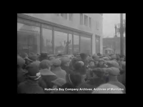 Hudson Bay Company 1926 Store Opening in Winnipeg