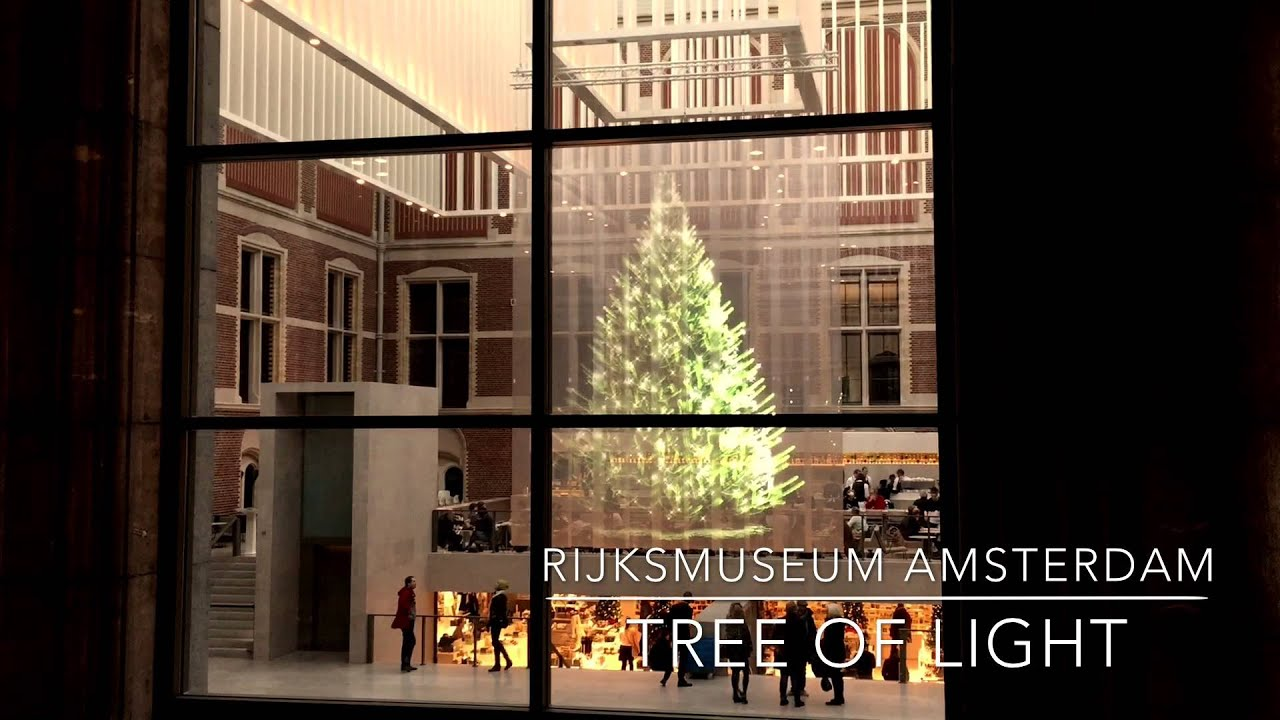 Holographic Christmas Tree at Rijksmuseum Amsterdam - YouTube
