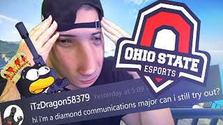 I tried out for a COLLEGE Rainbow Six Siege team and pretended to be a Diamond communications major