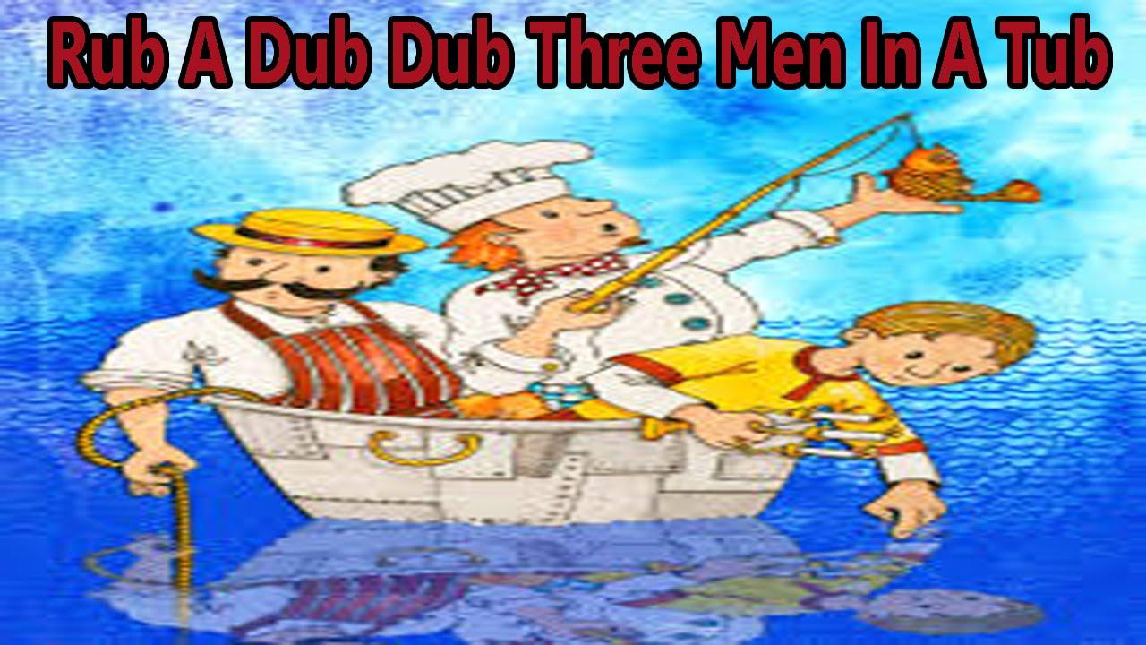 Rub A Dub Dub Three Men In A Tub | Nursery Rhyme | English Animated ...