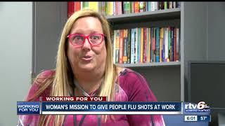 IU Health pharmacist helping to make flu vaccines available