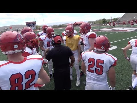 2018 Dixie State Football Spring Game Highlights Youtube