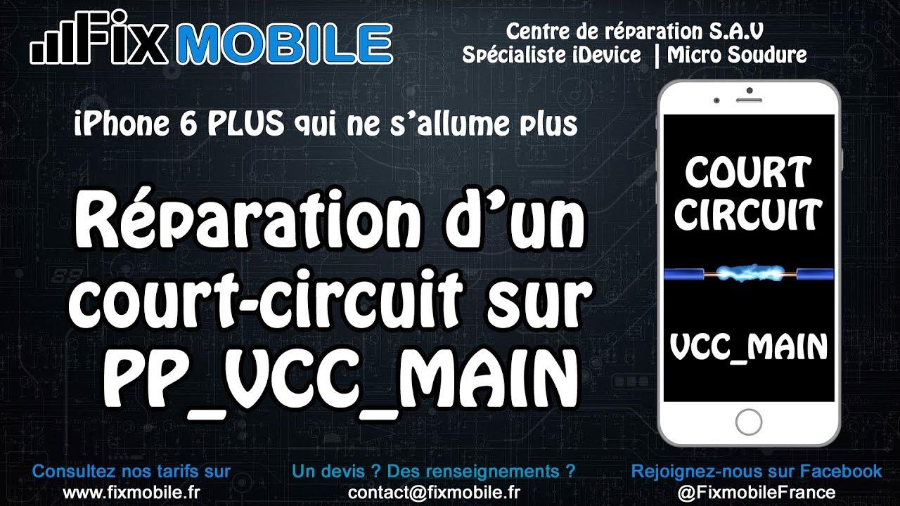 Reparation Carte Mere En Court Circuit Sur IPhone Qui Ne Sallume Pas Ecran Noir Apres Une Chute