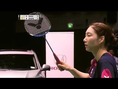 SKYCITY New Zealand Open 2016 | Badminton F M1-WS | Sung Ji Hyun vs Aya Ohori