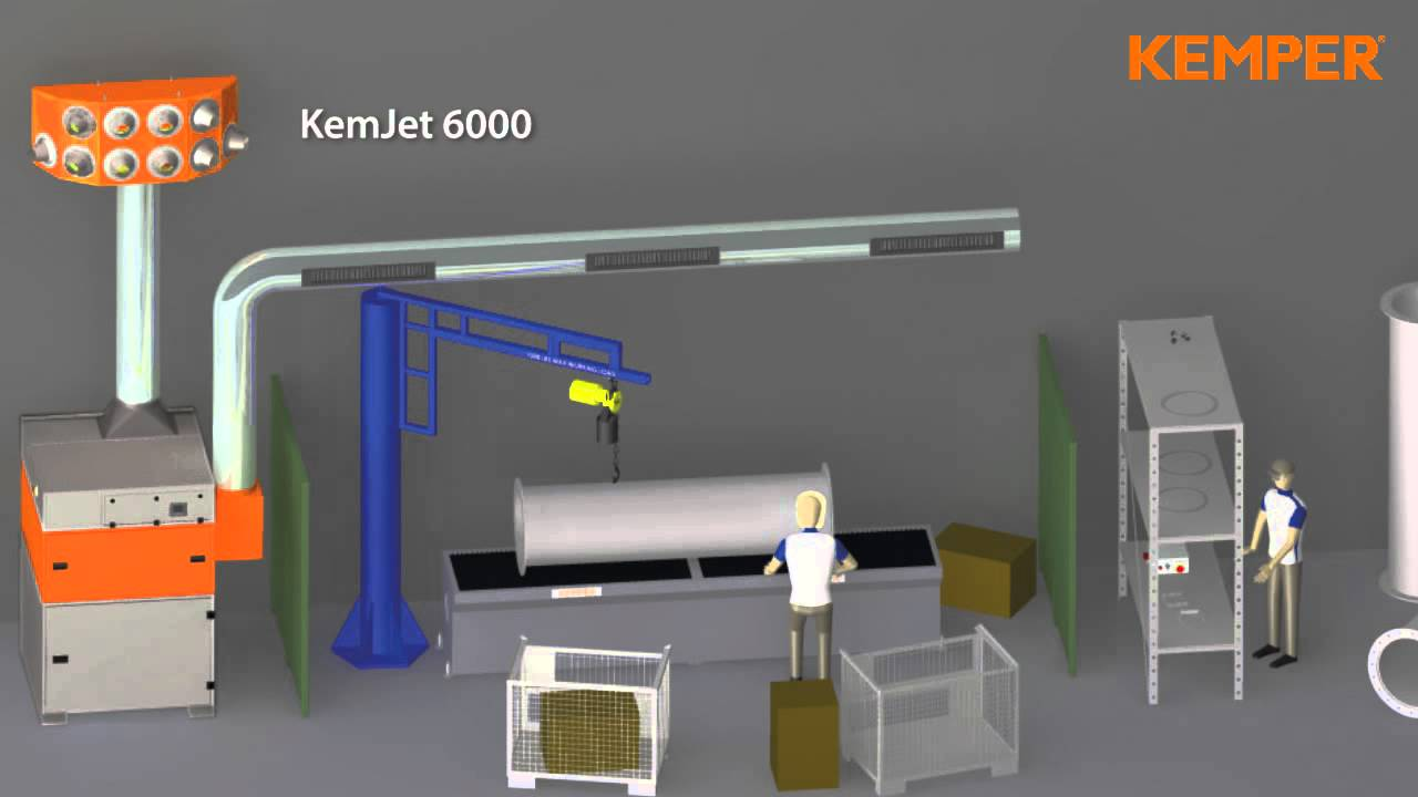 General Ventilation System Kemjet Welding Fume Smoke