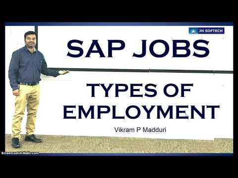 SAP Jobs, Types Of Employment