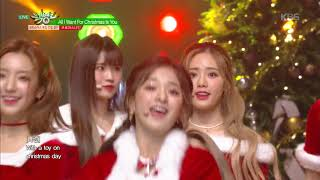 뮤직뱅크 Music Bank - All I Want For Christmas Is You (원곡 Mariah Carey)-프로미스나인(fromis_9).20181221
