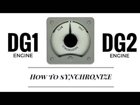 Ηow to synchronize DG1 and DG2 kongsberg engine room simulator👷🏻 ⚡️ ⚡️ ⚡️