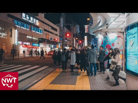 Walking around Umeda, Osaka by night - Long Take【大阪・梅田/夜景】 4K