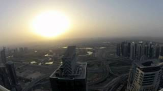 timelapse sunrise over dubai marina