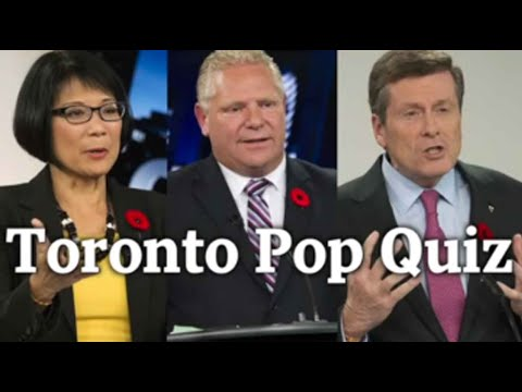 Toronto mayoral candidates take The Globe and Mail's pop quiz