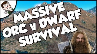 Massive 25000 Orc v Dwarf Survival Battle - Ultimate Epic Battle Simulator Gameplay