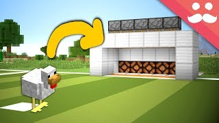 Making a CHICKEN PENALTY SHOOTOUT for Survival Minecraft!