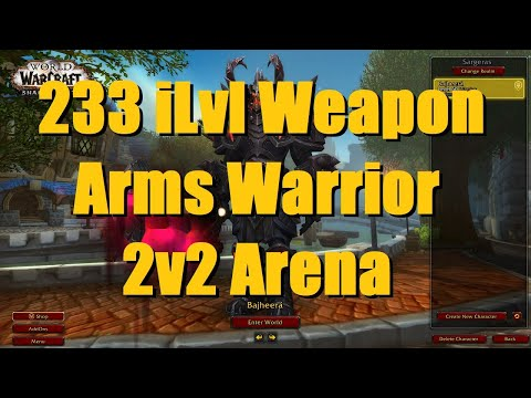 225 iLvl Arms Warrior / Holy Paladin 2v2 Arena (2K+ MMR) - WoW Shadowlands 9.0 Warrior PvP