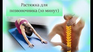 Растяжка для спины. Йога упражнения.