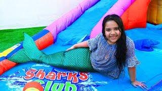 القلادة حولت شفا لحورية البحر !! shfa pretend play mermaid