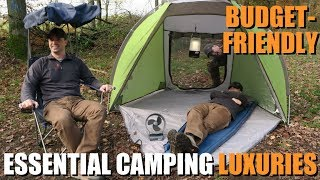 Top 5 Essential AFFOŔDABLE Camping Luxuries | Budget-Friendly Outdoor Gear