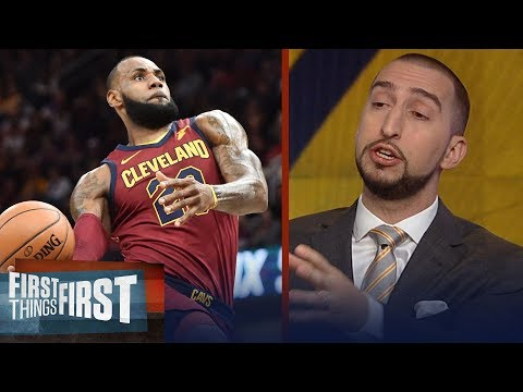 Nick Wright reacts to LeBron James' 39-point performance in Cavs' win in Denver | FIRST THINGS FIRST