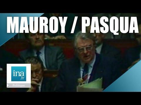 "Pierre Mauroy / Charles Pasqua ""La mort de Malik Oussekine"" | Archive INA"