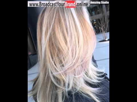 Long Blonde Layered Haircut With Highlights Youtube