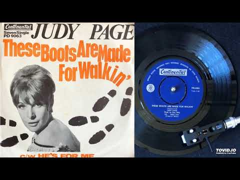 Judy Page - These Boots Are Made For Walking
