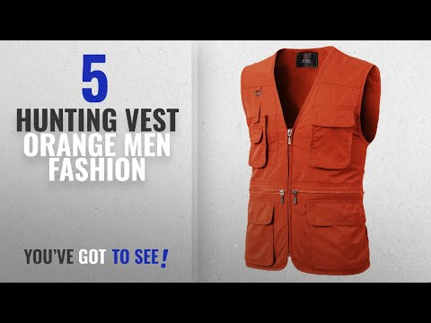 Top 10 Hunting Vest Orange [Men Fashion Winter 2018 ]: H2H Men's Durable Reversible Outdoor Casual