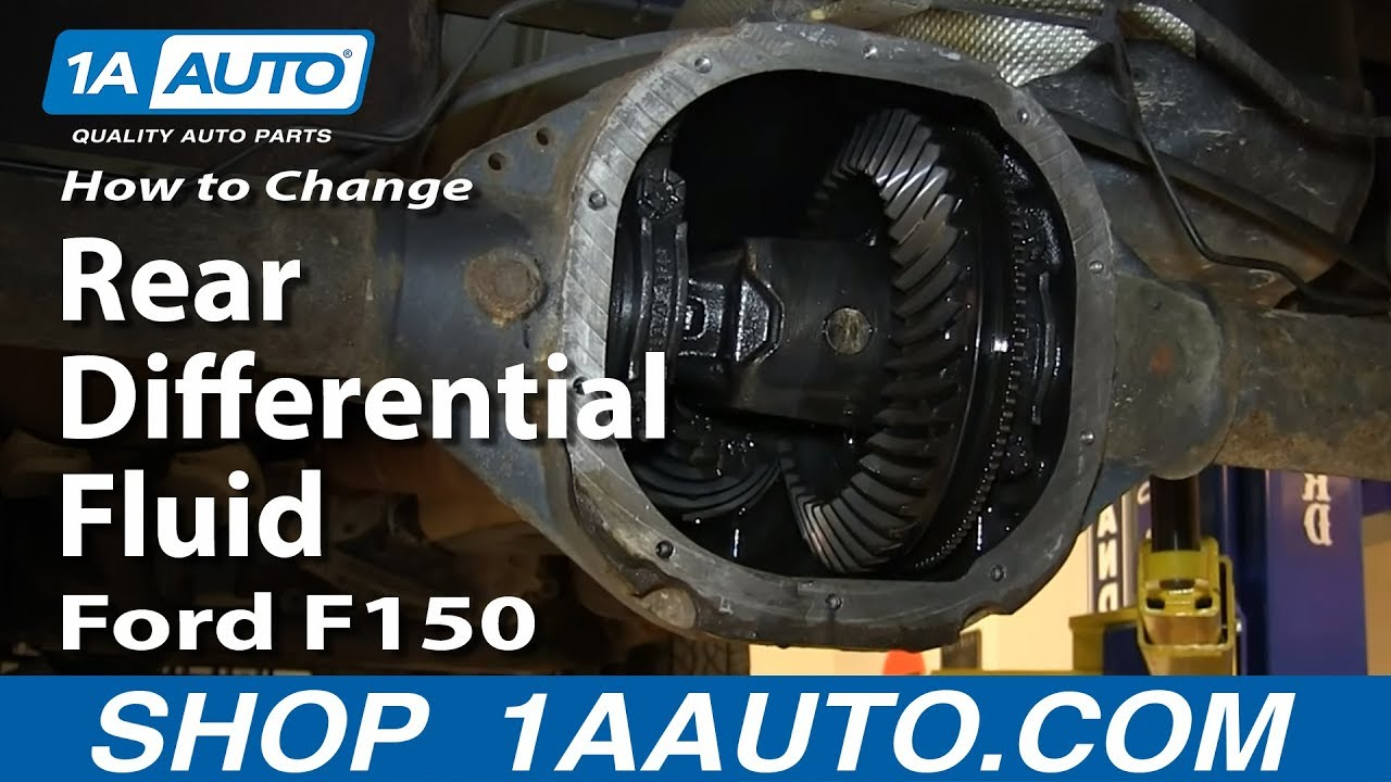 Transmission Fluid Leak >> How to Change Rear Differential Fluid 2004-14 Ford F150 - YouTube
