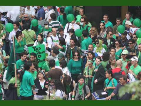 """No to Ahmadinejad protest  New York Sept 23-24 """"NY Goes Green"""""""