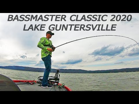 BASSMASTER CLASSIC - Fishing LAKE GUNTERSVILLE The Day Before!