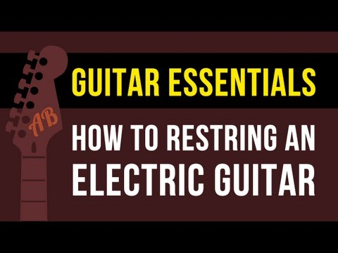 how-to-change-electric-guitar-strings-|-stratocaster-style-guitar
