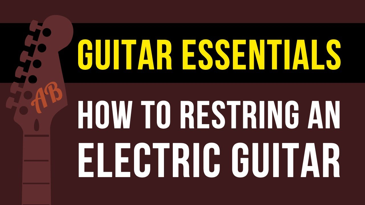 how to change electric guitar strings stratocaster style guitar youtube. Black Bedroom Furniture Sets. Home Design Ideas