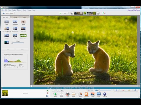 Google Picasa Free Photo Editing Program Tutorial Youtube