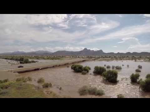 Tucson Flooding Drone Footage - Random shots