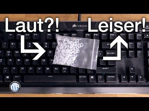 Tastatur zu LAUT? Mechanische Tastaturen leiser machen!