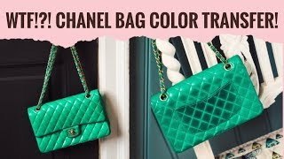 Chanel Color Transfer! This Is What Happens To a Non Black Lambskin Chanel bag!!!