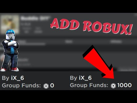 How To Add Robux To Your Group Funds Without Premium Working