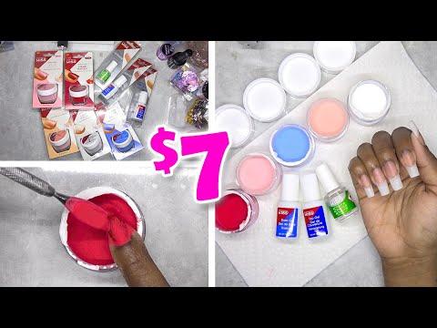DIY Testing Kiss Color Dip Powder Nail Kit