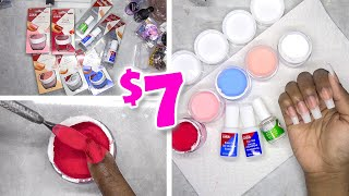 DIY Testing Kiss Color Dip Powder Nail Kit