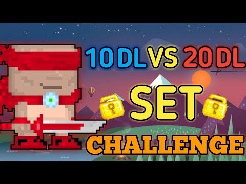 10 DLS VS 20 DLS (NEW SET) | Growtopia - Set Challenge #22