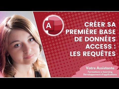 Créer sa première base de données Access - Création d'une requête (2/4)