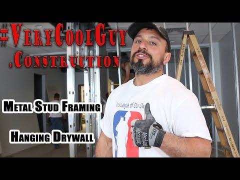 Hanging Drywall - Metal Stud Framing