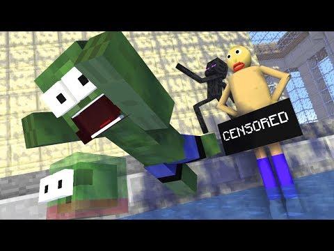Monster School : BALDI'S SWIMMING CHALLENGE - Mineraft Animation