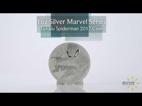 1oz Silver Tuvalu Marvel Spiderman 2017 Coin