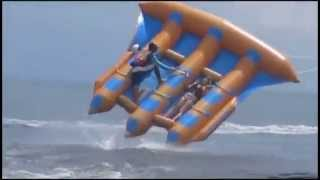 Kite Tubing and holding on for life