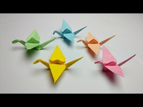How to make an origami crane with sticky notes step by step
