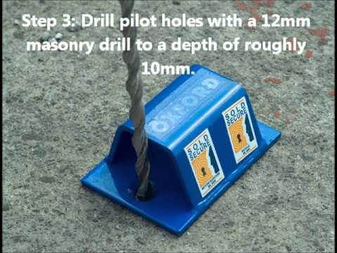 How To Install A Ground Anchor Youtube