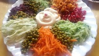 #Салат# Радуга #для тех кто на диете....
